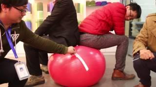 Anti-burst Yoga Ball Test