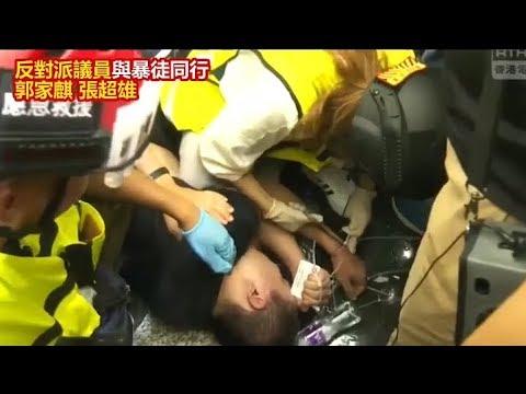 香港デモ隊、中国共産党のスパイを拘束、テレビで生中継