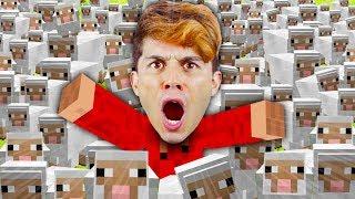 Por que tem MIL OVELHAS na minha casa em Minecraft???