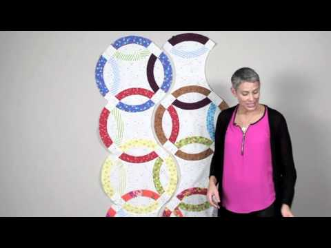 Double Wedding Ring Quilts: Piecing the Strips