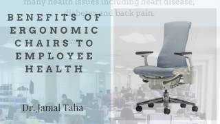 The Benefits of Ergonomic Chairs to Employee Health