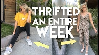 I wore ONLY thrifted clothes for a WEEK