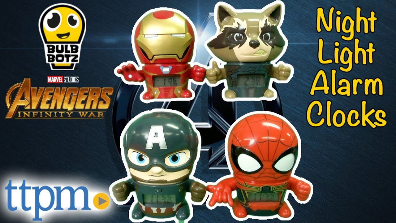 ef717e843014 Iron Man Captain America Black Panther Hulk Star-Lord Iron Spider Alarm  Clocks from BulbBotz