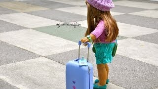 How to Travel and Pack For Your American Girl Doll ~ Beach Holiday featuring Kanani ~