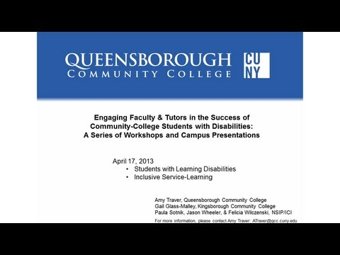 Faculty/Tutor Workshop #3: Students with Disabilities