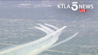 WWII-era planes honor veterans, 1st responders with SoCal flyover on Memorial Day