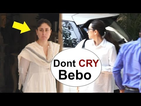 Karisma Kapoor CONSOLES Emotional Kareena Kapoor At Grandmother Krishna Raj Kapoor`s Funeral
