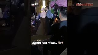 Yuna and Adam kicked off wedding reception with a fun dance gimmick