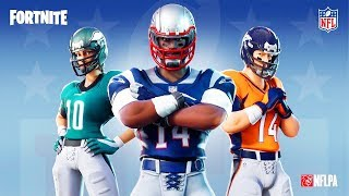 NEW NFL SKINS IN FORTNITE! ALL NFL TEAMS IN ONE SKIN NEW NFL THEMED ITEM SHOP FORTNITE X NFL!