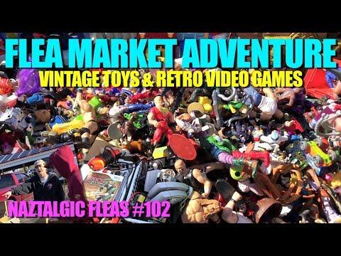 FLEA MARKET ADVENTURE #102 Selling & Buying (Video Games, Vintage Toys)