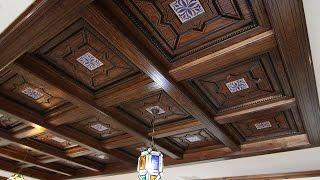Techos y paredes de madera para alta decoración.