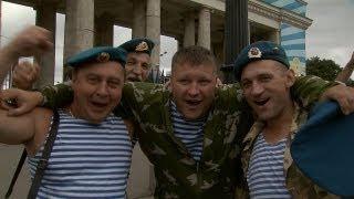 Veteranos celebran Día de las Tropas Aerotransportadas en centro de Moscú