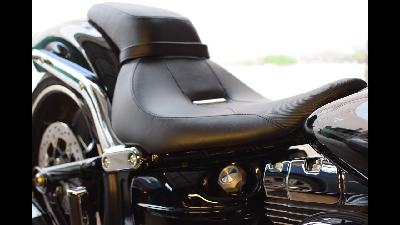 harley davidson reduced reach seat - softail breakout - youtube