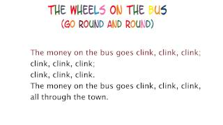 The wheels on the bus- Lyrics,Sing-Along,Playback,Karaoke,Instrumental,Nursery Rhyme,Songs for Kids