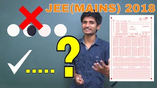 Do you know right method of BUBBLING in OMR Sheet of JEE(MAINS)2018 || Avoid These Mistakes......?