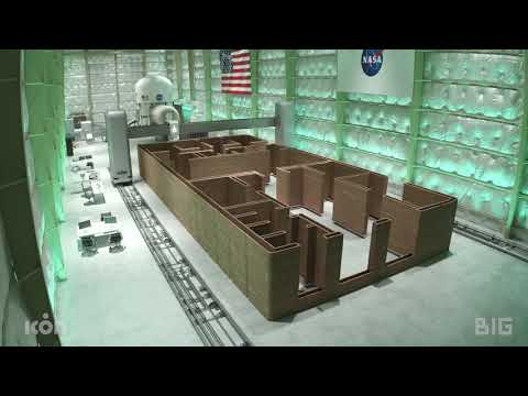 NASA's Mars Surface Simulated Habitat   3D Printed by ICON, designed by BIG