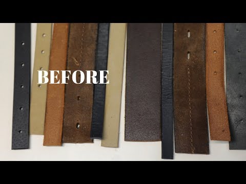 DIY Mail Organizer with Repurposed Old Leather Belts - Father's Day Gift Idea - Thrift Diving