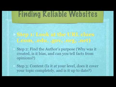Reliable Websites - YouTube