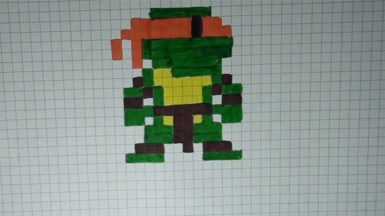 Comment Dessiner Une Tortue Ninja Pixel Art