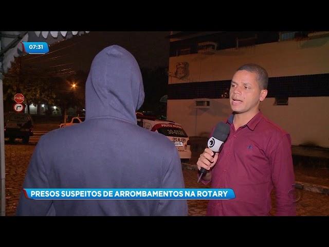 Dois homens foram presos acusado de arrombar estabelecimentos comerciais na Av. Rotary