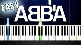 ABBA - Gimme Gimme Gimme - EASY Piano Tutorial by PlutaX