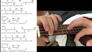 Stand By Me Ben E King in C Key Ukulele Tutorial Play along Sing Along
