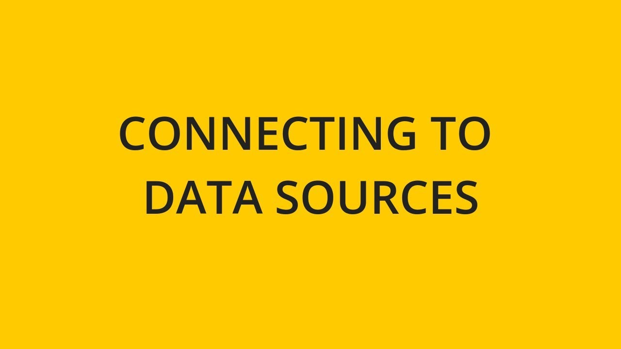 Introduction to Data Sources | Sisense | Documentation