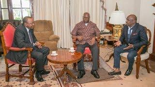 President Kenyatta meets former president Moi