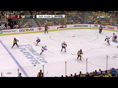 Chris Kunitz Double Overtime Goal vs. Senators Sends Penguins to Stanley Cup Final (NBC Call)