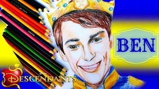 DISNEY DESCENDANTS Learn How to Draw BEN Speed Drawing