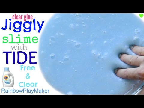 How to make slime with elmers clear glue and tide
