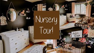 NURSERY TOUR | Baby girl's room with Black Walls