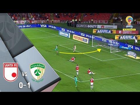 Santa Fe vs La Equidad resumen del triunfo 0-1 de Equidad Liga Águila 2018-II Fecha 16