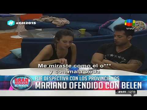 """""""Gran Hermano 2015"""": Mariano se ofendió con Belén por discriminar a los """"provincianos"""""""