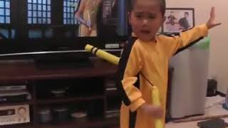 baby bruce lee acting like a legend Bruce lee