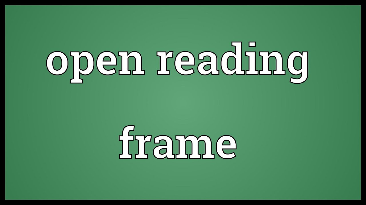 Open reading frame Meaning - YouTube