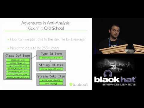 Black Hat USA 2012 - Dex Education: Practicing Safe Dex