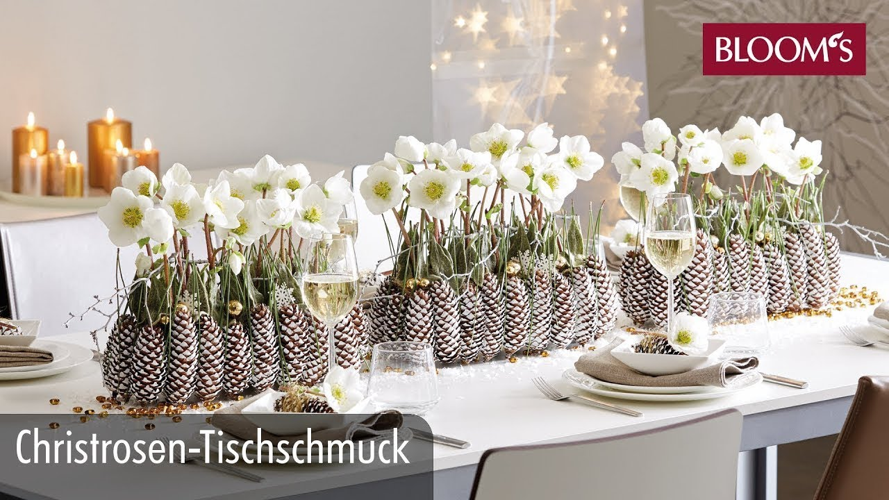 christrosen tischschmuck weihnachtsdeko christmas decoration bloom s floristik youtube