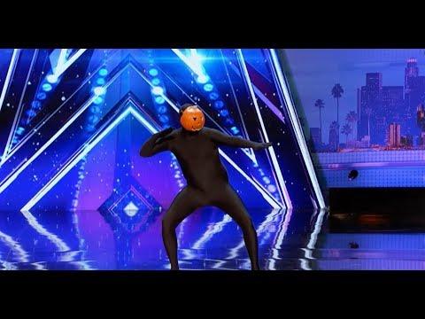 СУДЬИ ПРОСТО АФИГЕЛИ!! ТАНЦУЮЩАЯ ТЫКВА!! ЖЕСТЬ!) Dancing Pumpkin Man. Талант Америки 2017