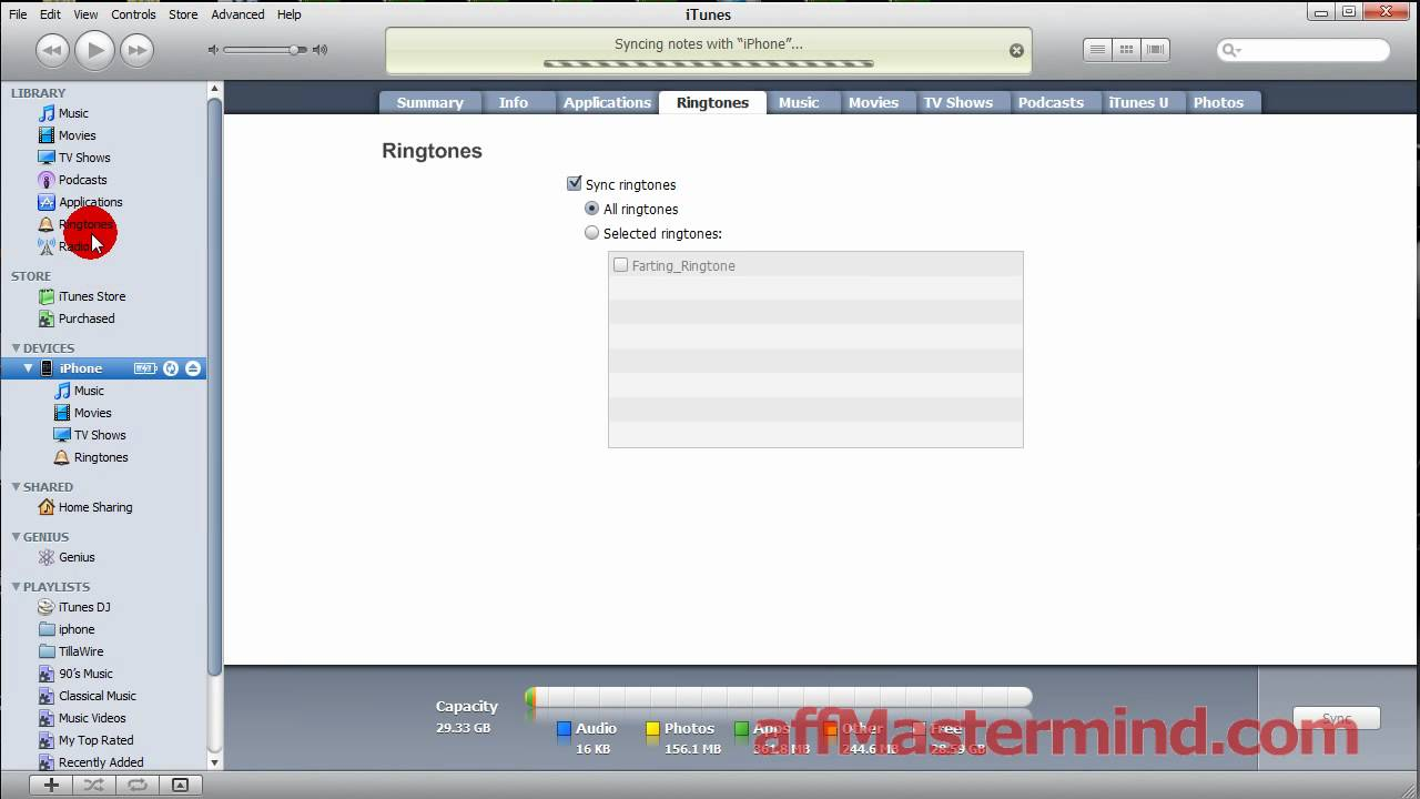 how to add ringtones to itunes