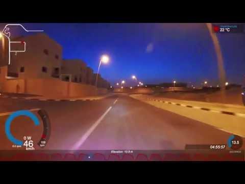 Predawn Sunrise Hill Sprint Cycling Training - 14x30s Intervals