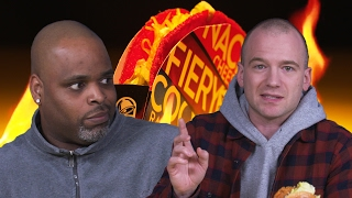 Sean Evans and Daym Drops Review the Spiciest Fast-Food Menu Items by : First We Feast