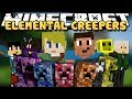 Minecraft: ELEMENTAL CREEPERS FREE FOR ALL! - Elemental Creepers Mod Gameplay
