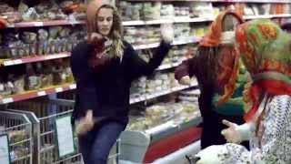 Флешмоб  в магазине. АТАК. Бабушки танцуют. Очень классно.Бабули отжигают.