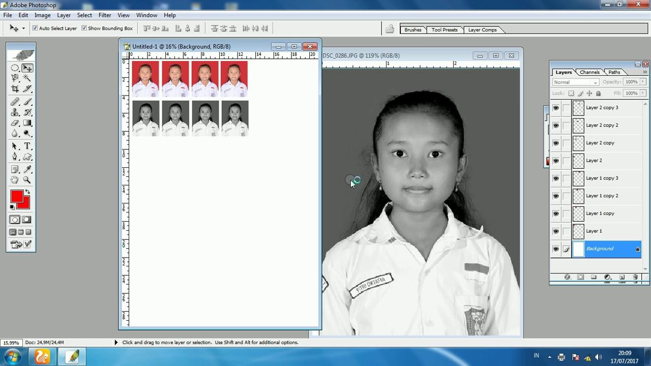 Cara Cetak Photo Ukuran 3x4 Di Photoshop Youtube