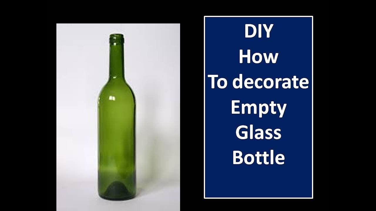 Diy Decorate Empty Wine Bottle With White Cement Room Decor Home