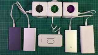 Тест и выбор Power Bank 2018 – тестирую 5 внешних батарей – XIAOMI, Golf