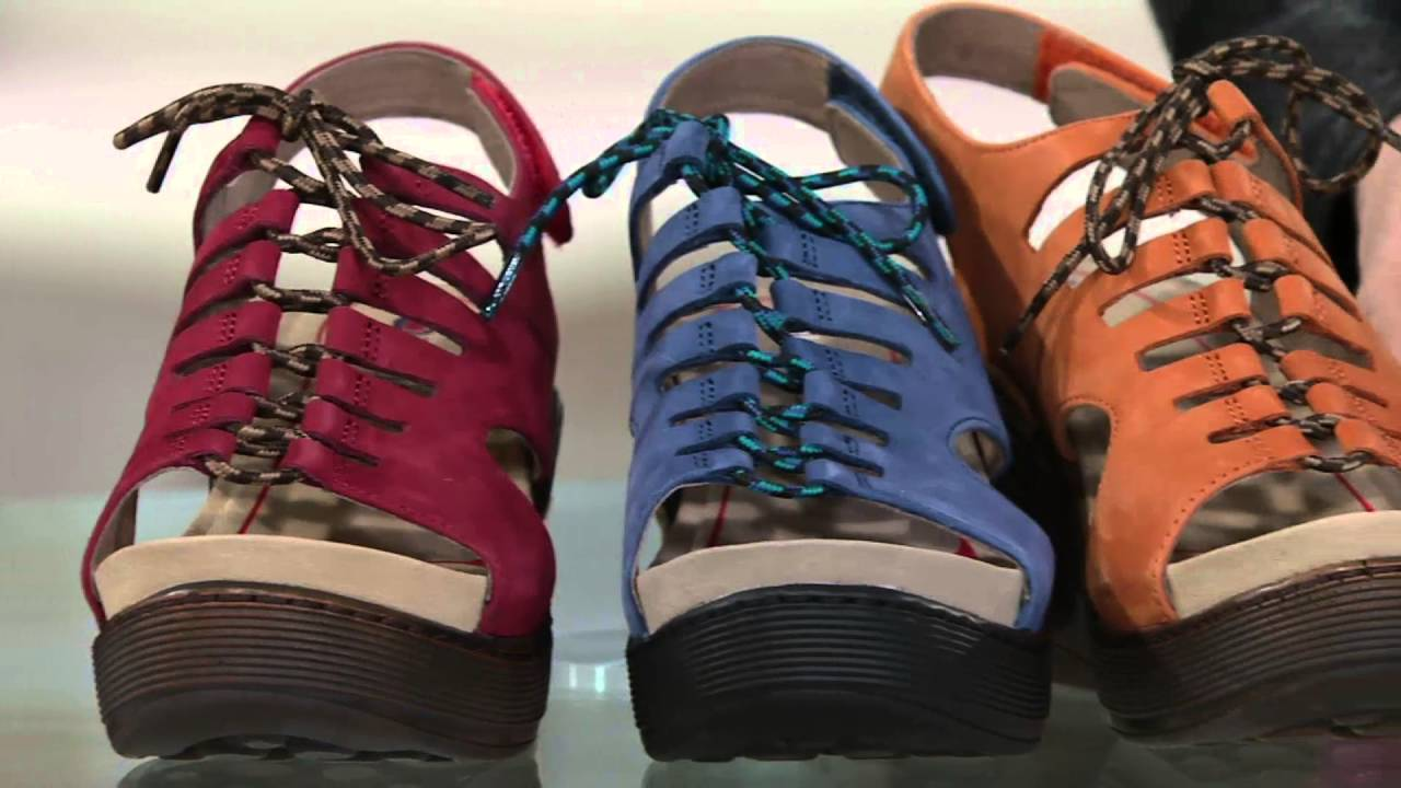 fcc6b5ac8957 Bionica Lace-up Leather Wedge Sandals - Sirus on QVC - YouTube
