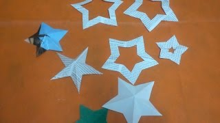 HOW TO CUT PAPER STARS - DIY
