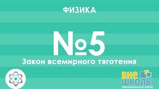 Онлайн-урок ЗНО. Физика №5. Закон всемирного тяготения.